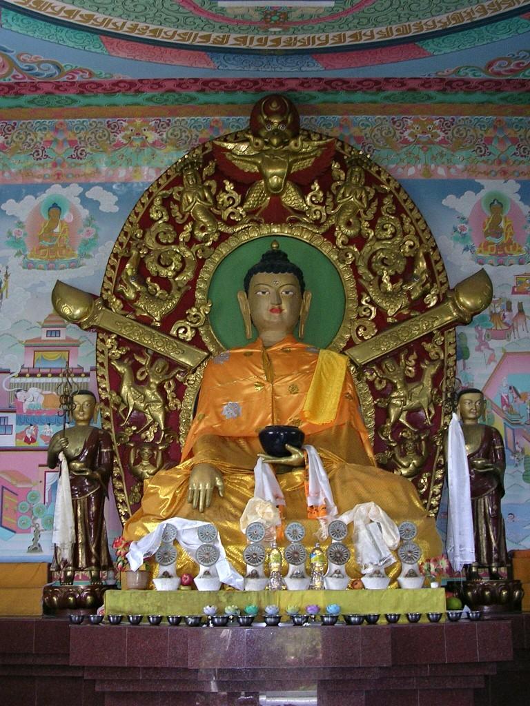 Buddha Darstellung in einem Tempel