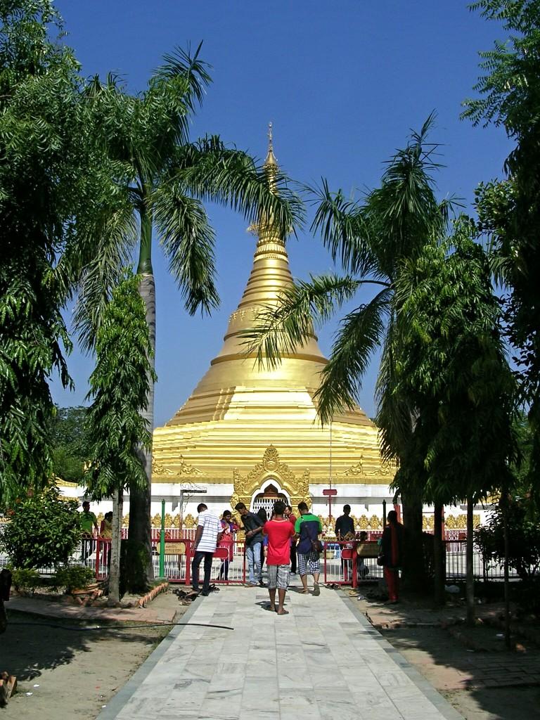 Myanmar 's Goldener Tempel in Lumbini (Lokamani Pula Pagoda)