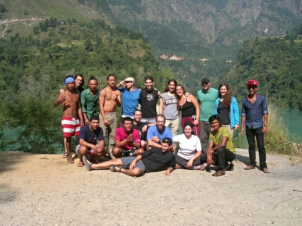 Gruppenfoto Rafting