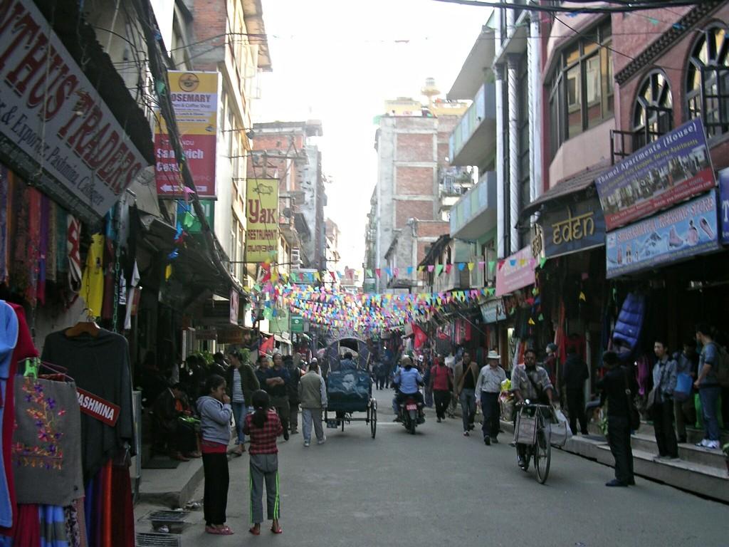 Thamel in Kathmandu