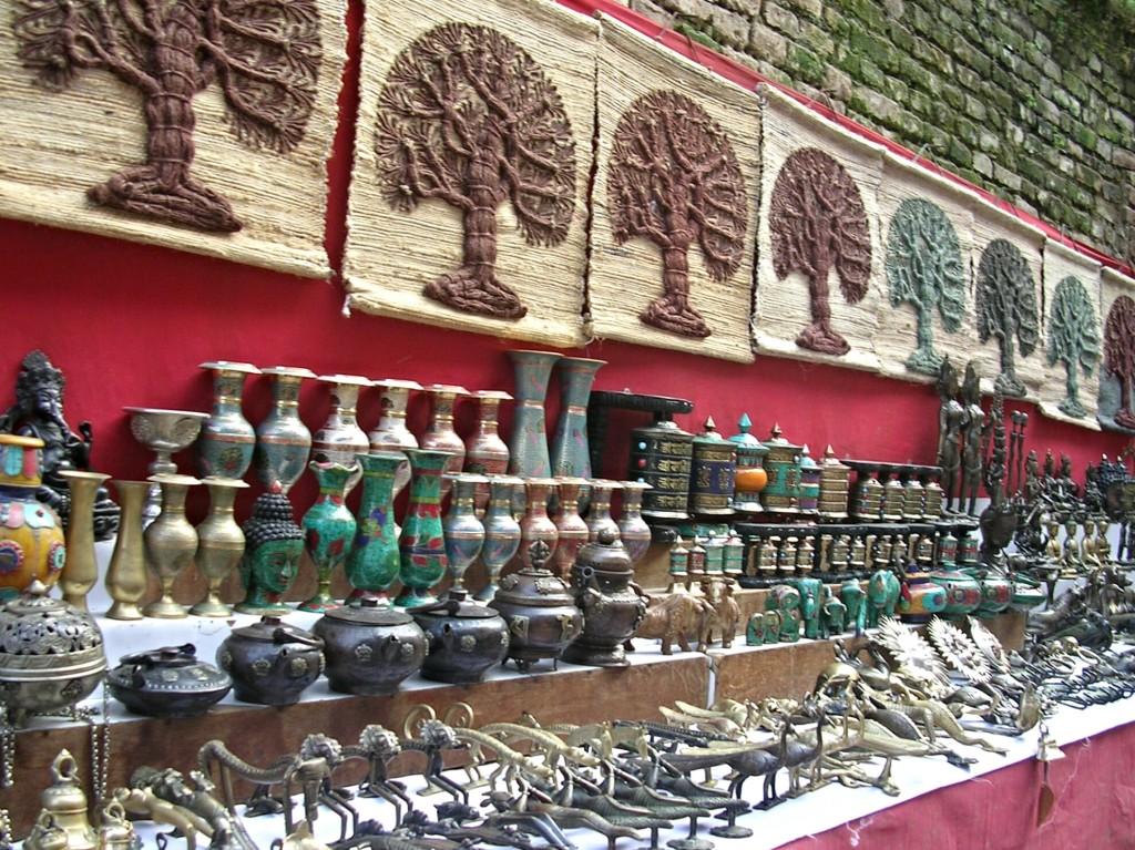 Vasen & Bilder in Kathmandu