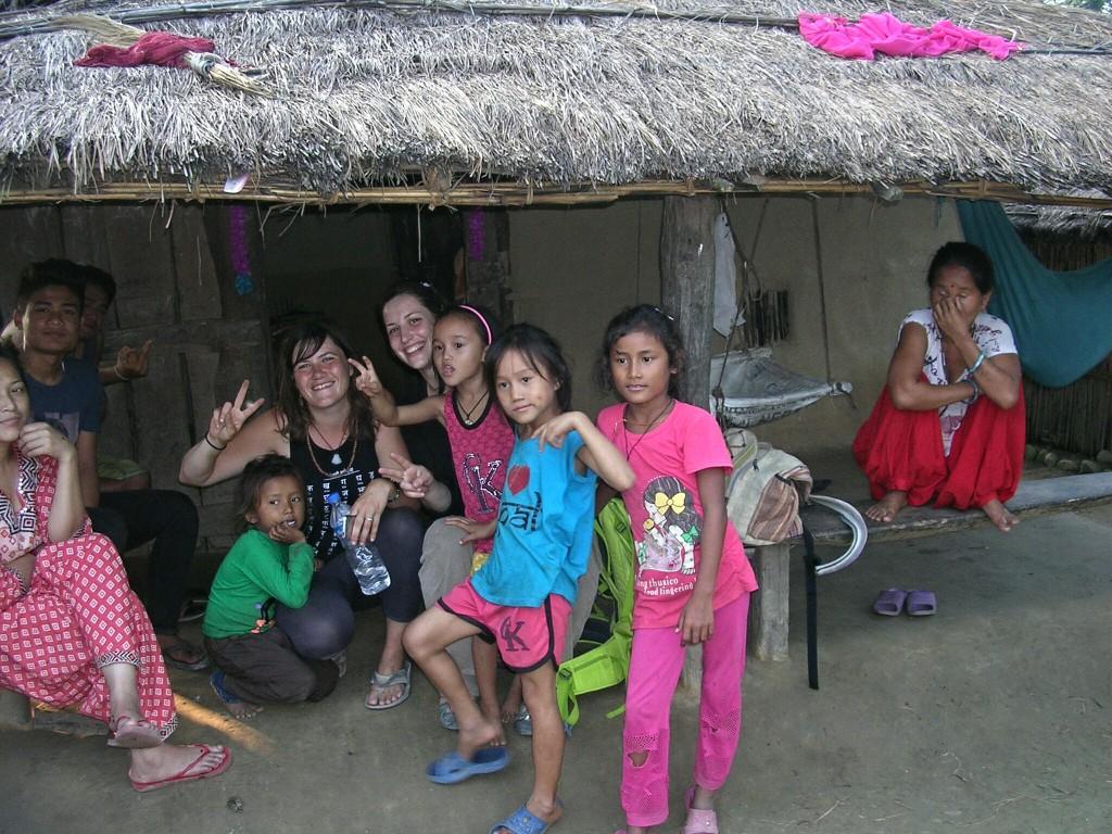 Zu Besuch bei einer Tharu Familie in Chitwan
