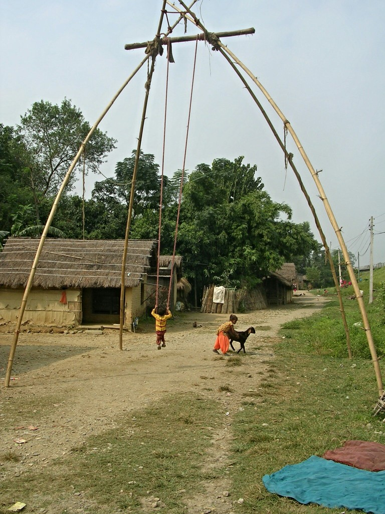 Bambus Schaukel in Nepal