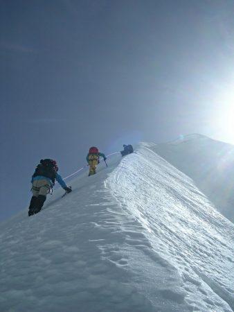 Steiler Aufstieg zum Tarpu Chuli in Nepal