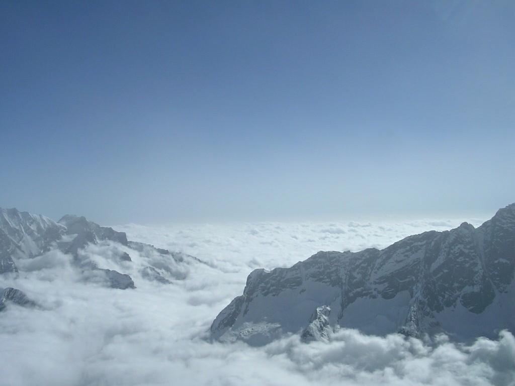 Ausblick vom Gipfel des Tarpu Chuli in Nepal