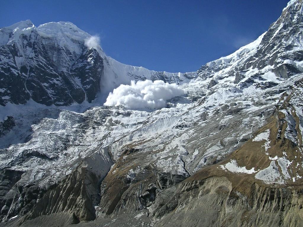 Lawine in der Annapurna Conservation Area