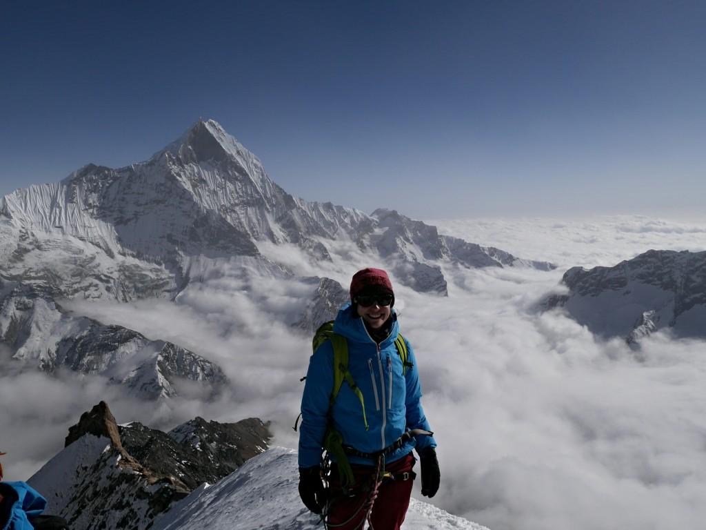 Ich am Gipfel des Tarpu Chuli (5695m) in Nepal
