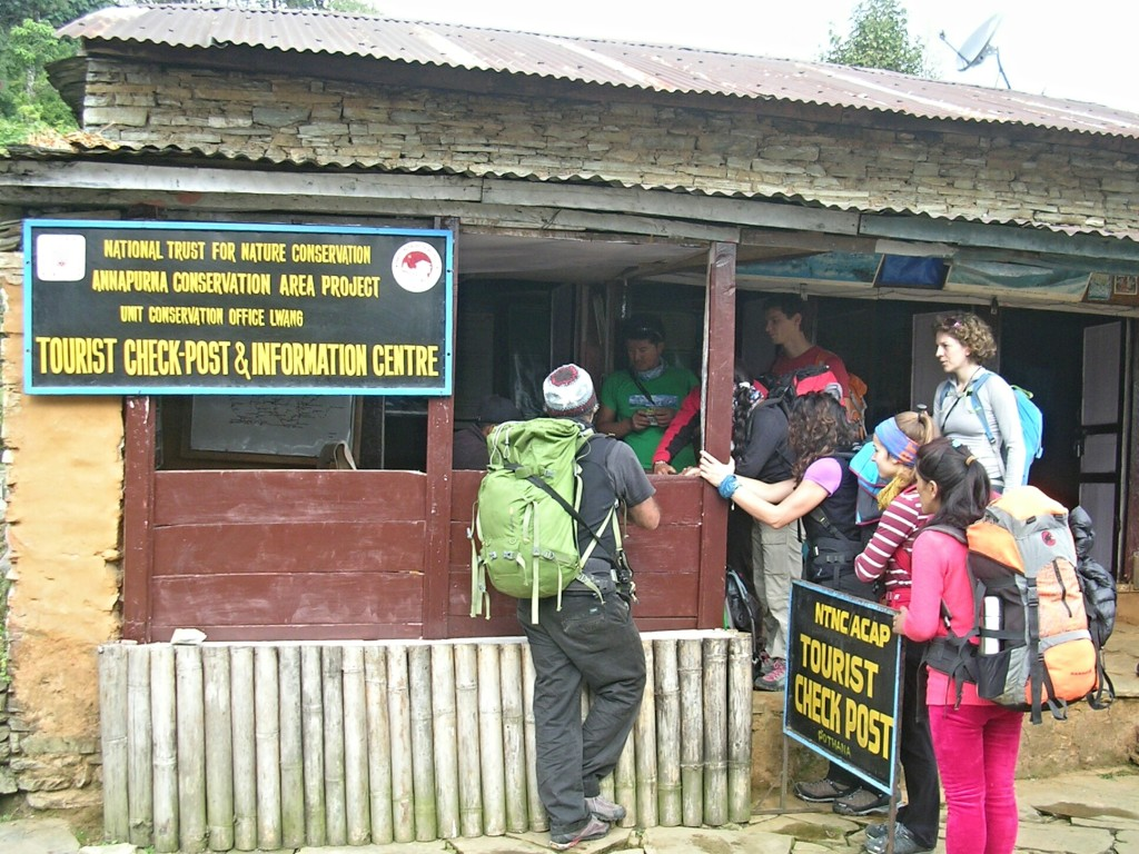 Check-Point zur Annapurna Conservation Area