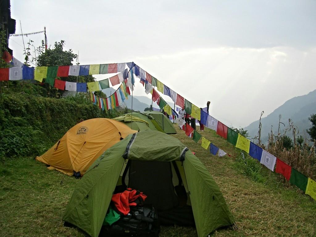 Zeltplatz am Annapurna Basecamp Trek