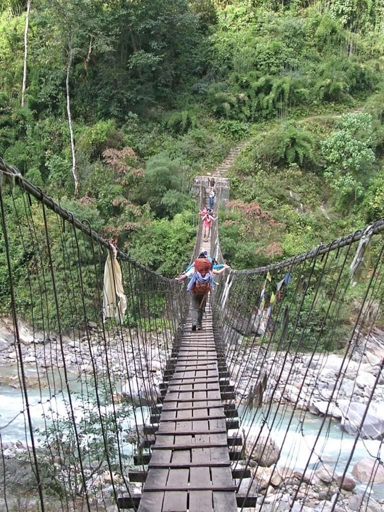 Hängebrücke am Weg zum Annapurna Base Camp