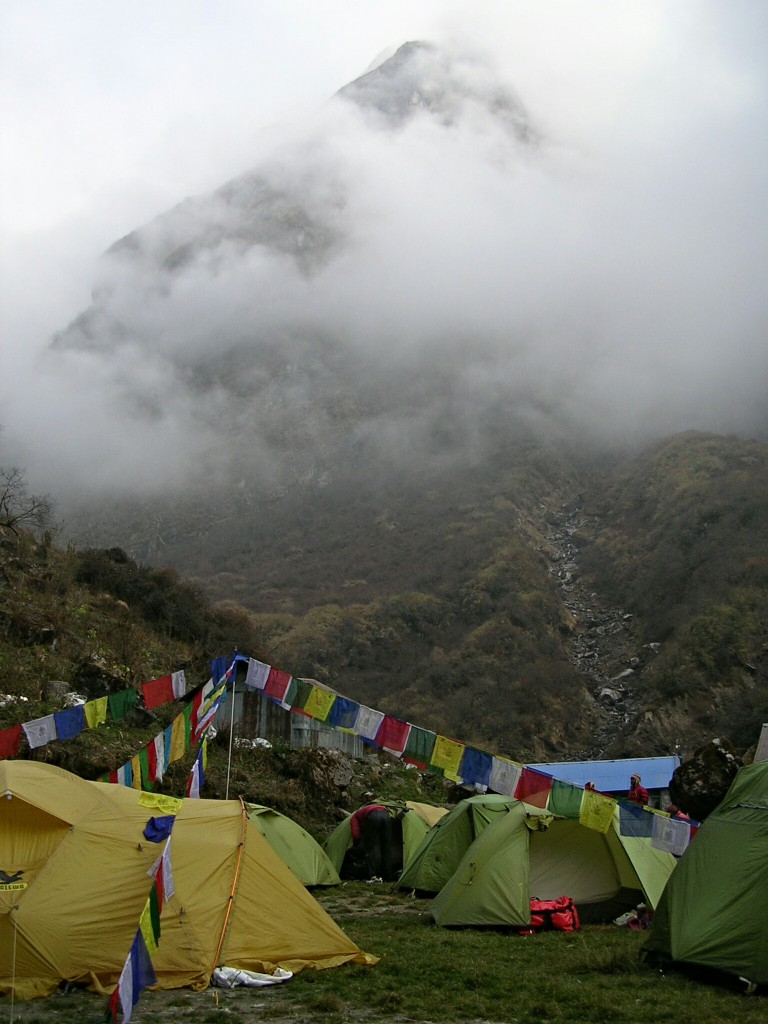 Zeltplatz in Deurali am Annapurna Basecamp Trek