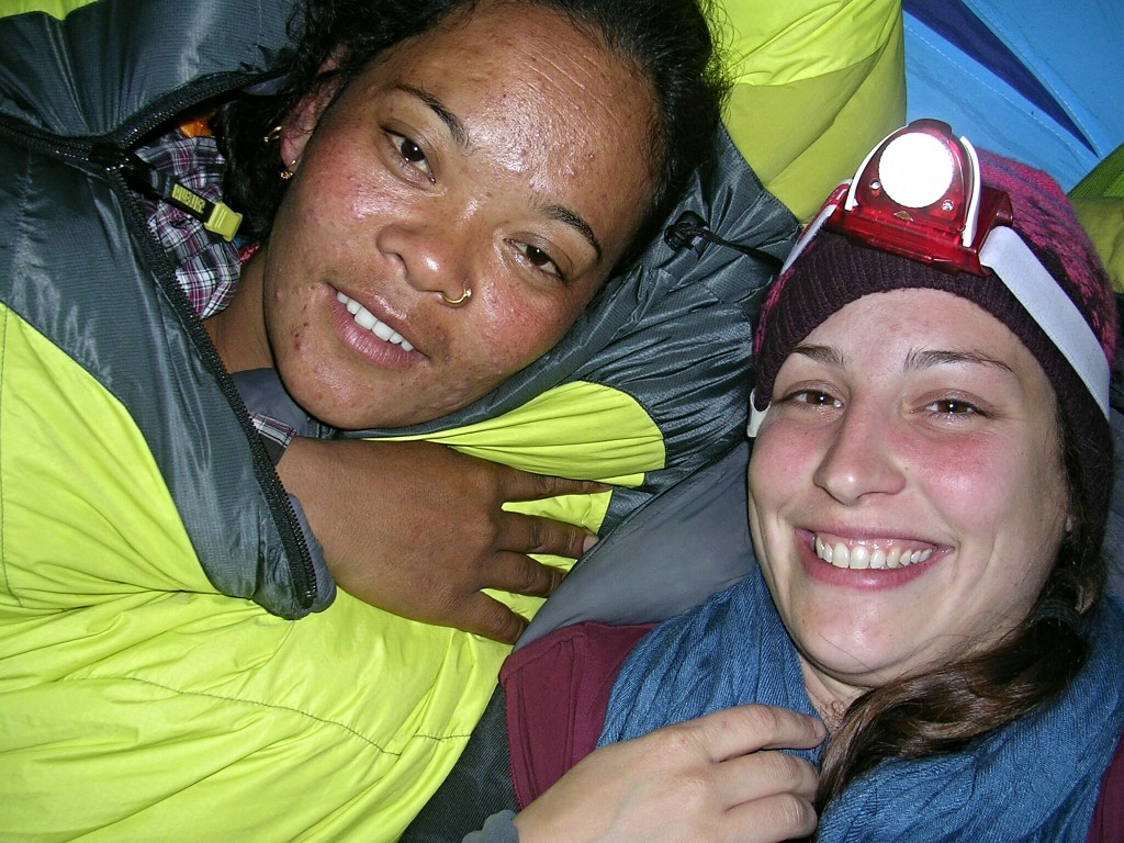 Sun Maya und ich im Zelt