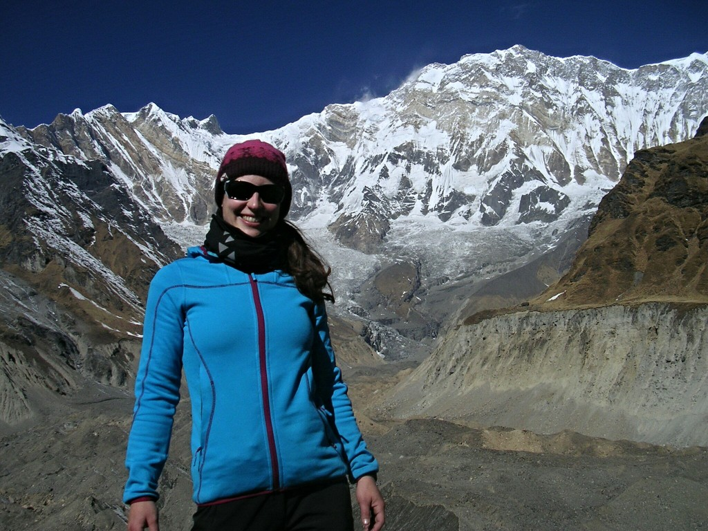 Ich mit Annapurna im Hintergrund