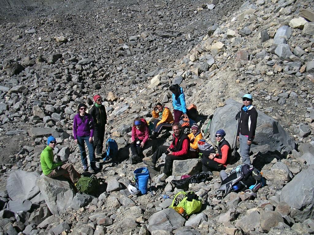 Pause nach der Gletschermoräne