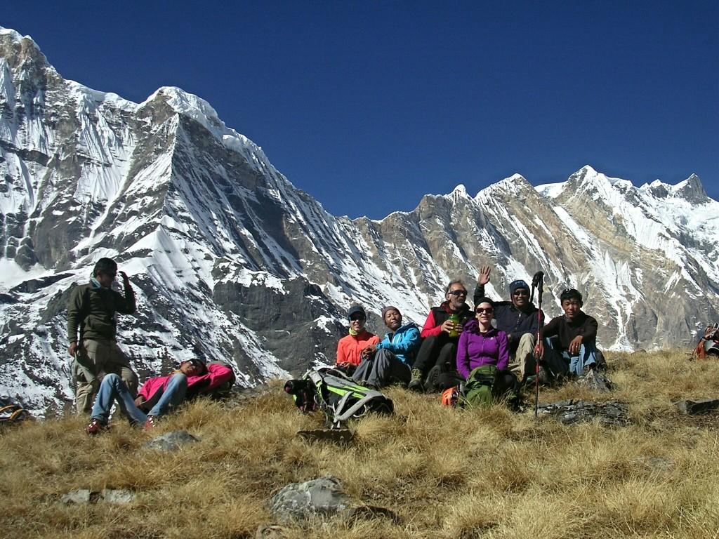 Gruppenfoto beim Aufstieg