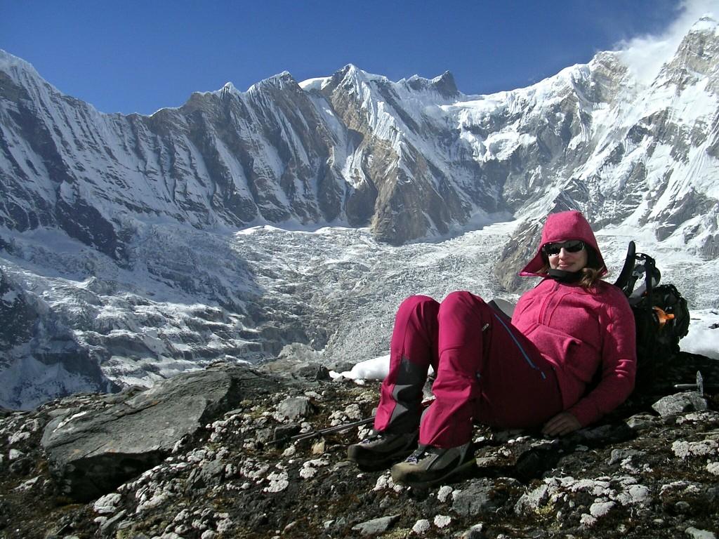 Ich mit dem Annapurna im Hintergrund