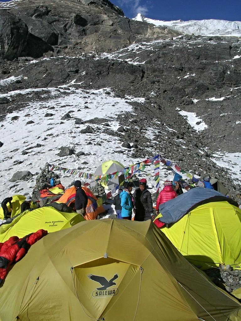 Advanced Basecamp am Weg zum Tarpu Chuli
