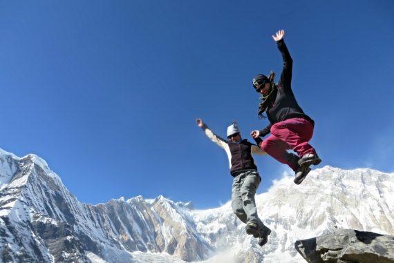 Palee & ich vor dem Annapurna