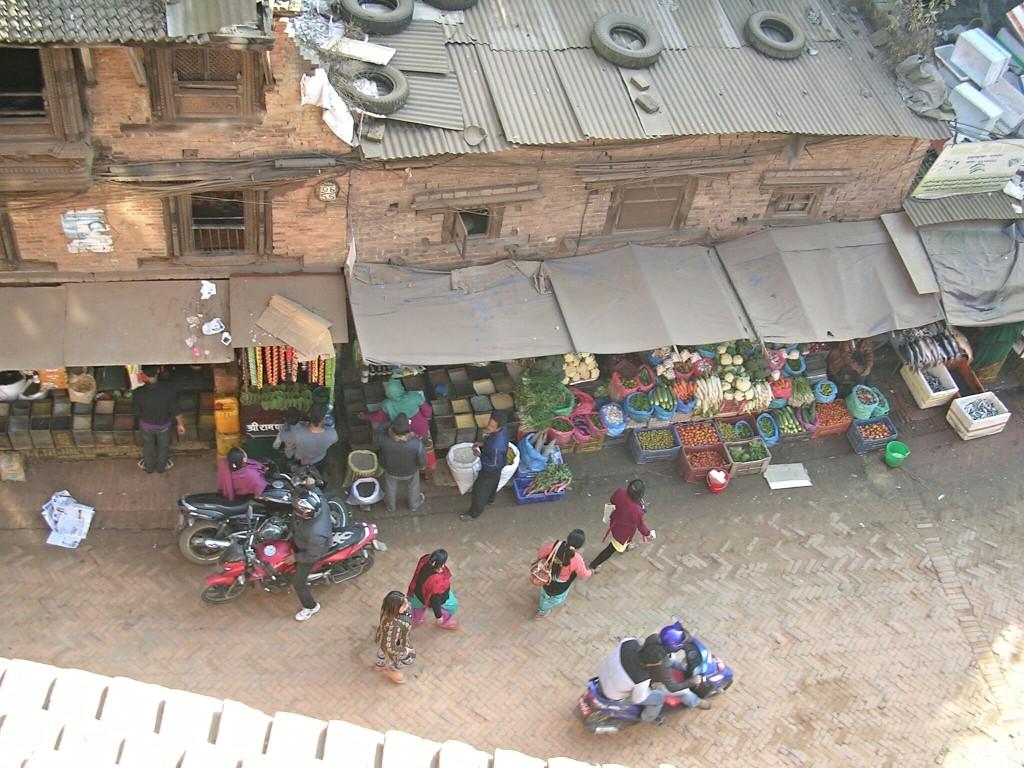 Ausblick vom Ganesh Guest House