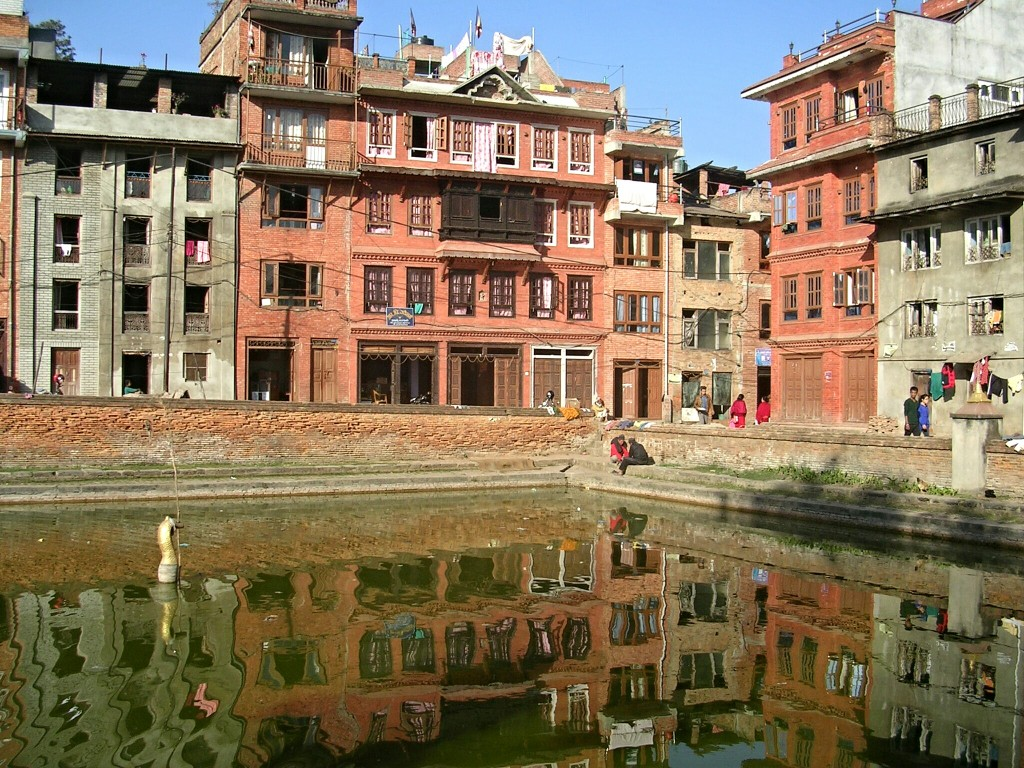 Wasserbecken in Bhaktapur
