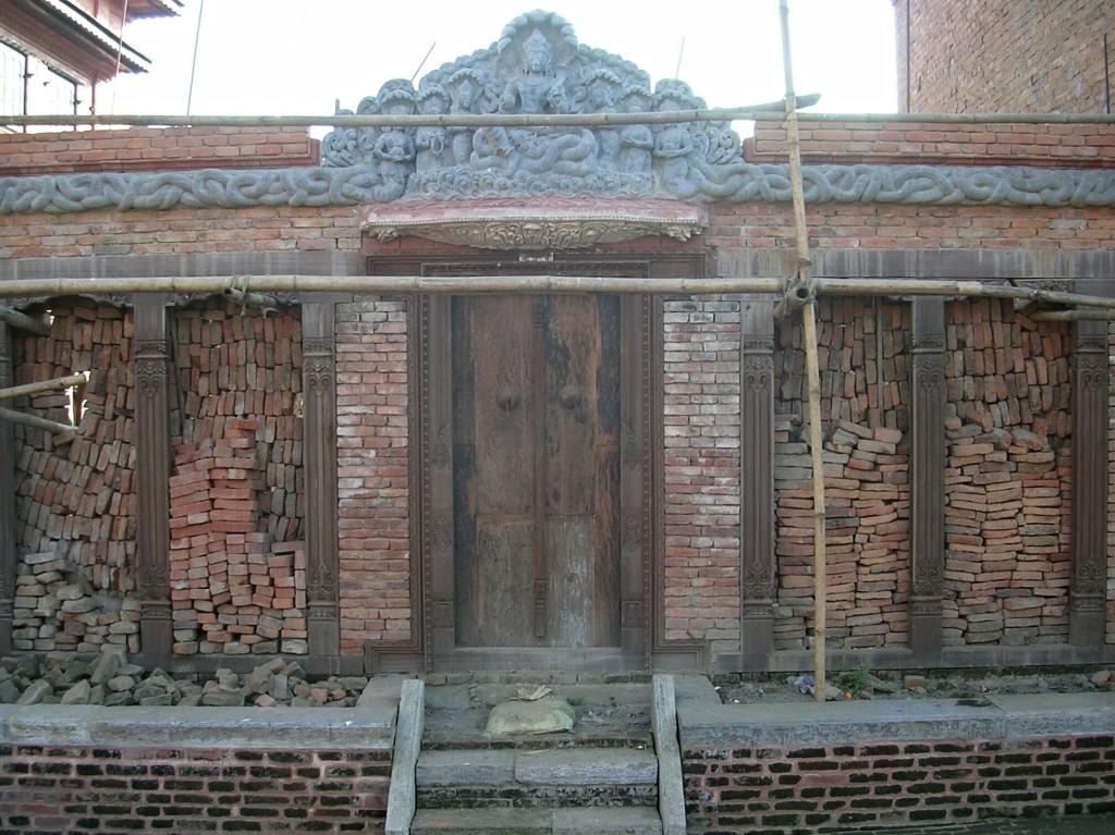 Hausfassade in Bhaktapur