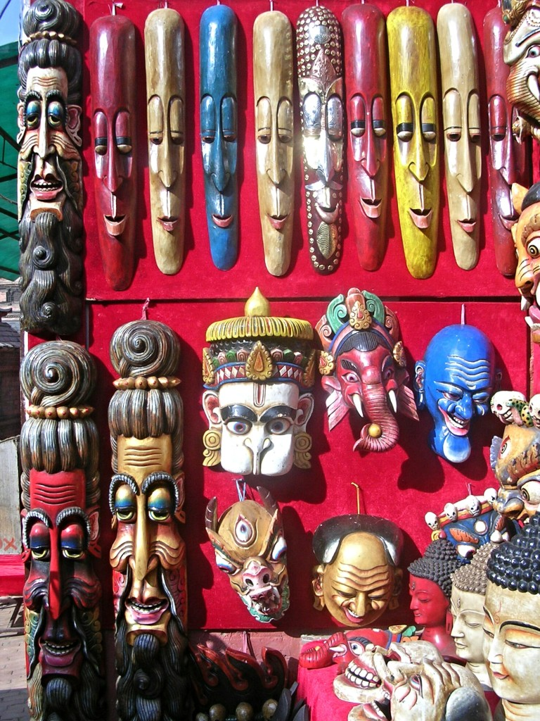 Masken in Bhaktapur