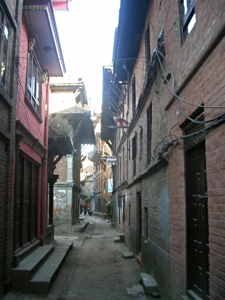 Schmale Gasse in Bhaktapur