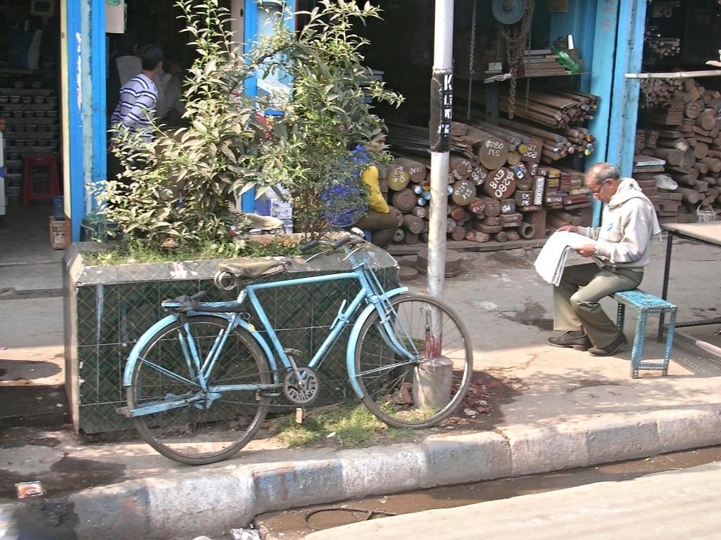Rad in den Straßen von Kolkata