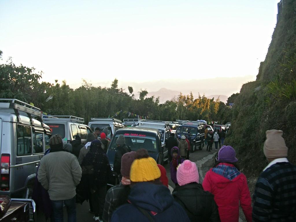 Stau am Weg zum Tiger Hill in Darjeeling