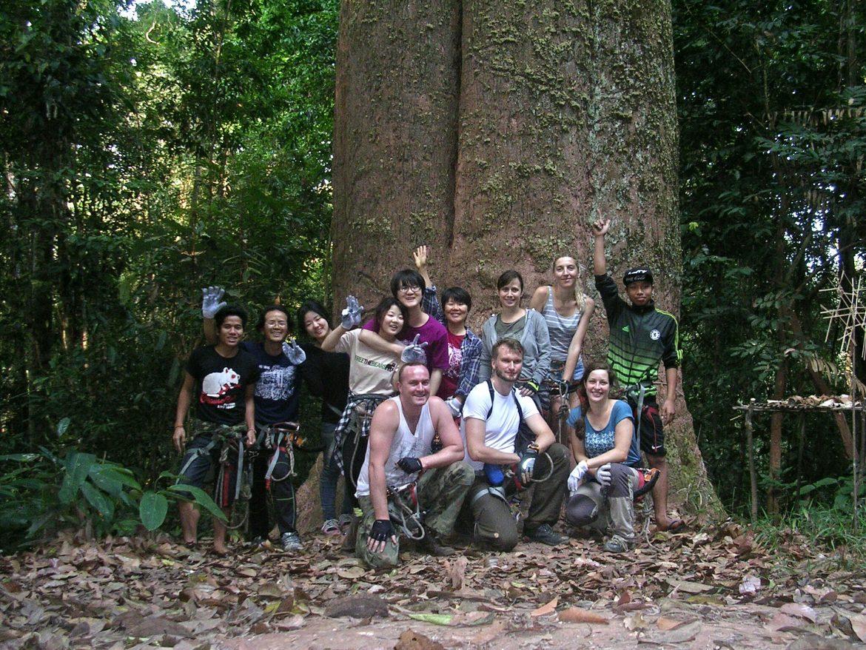 Gruppenfoto meiner Zipline Gruppe