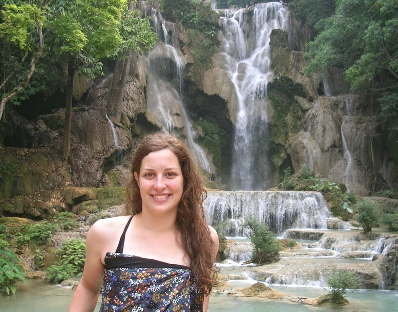 Ich am Kuang Si Wasserfall in Luang Prabang