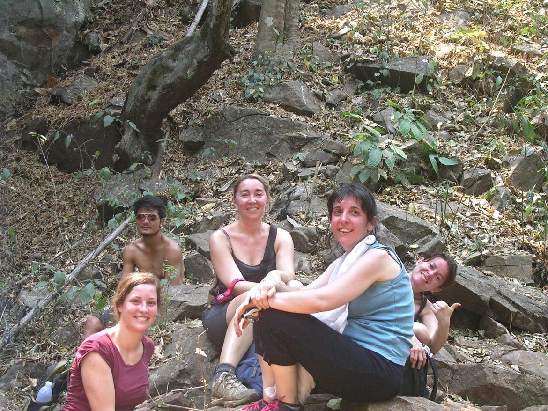 Gruppenfoto beim Wandern bei Chiang Mai