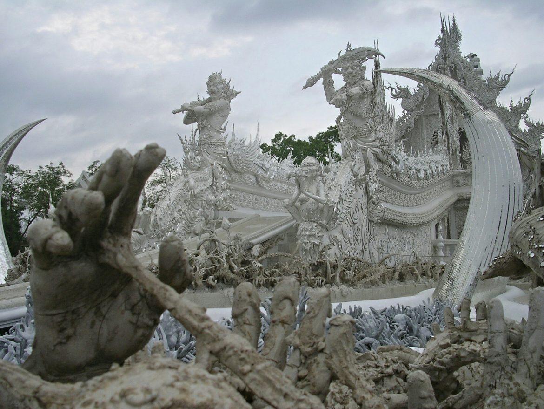 Wat Rong Khun Tempel bei Chiang Rai
