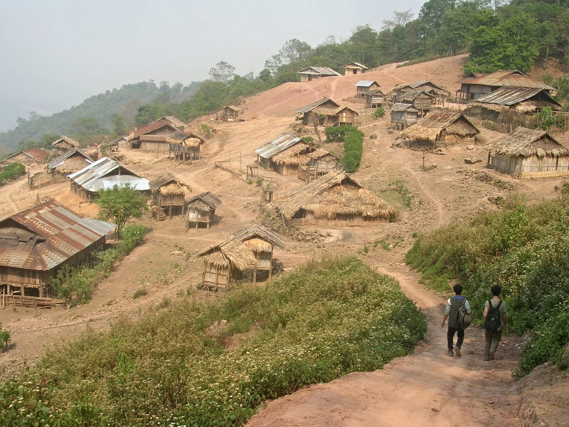 Akha Tribal Village in der Nähe von Phongsali