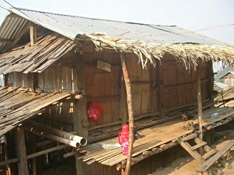 Gästehaus des Akha Tribal Dorfes in Laos