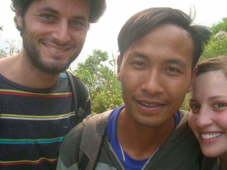 Gruppenselfie beim Wandern