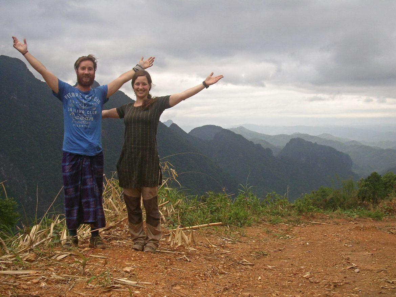 Florent und ich beim Wandern in Laos