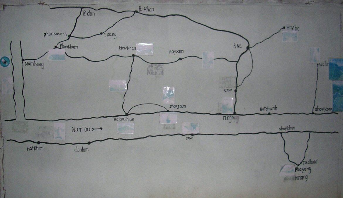Übersichtskarte zu den Dörfern bei Muang Ngoi Neua