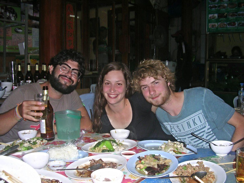 Abendessen in Vientiane