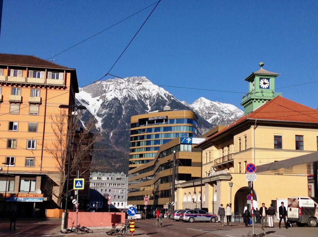 Innsbruck beim Bahnhof