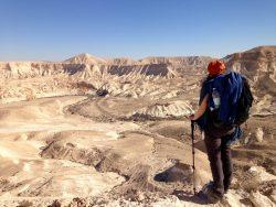 Ausblick auf den Canyon nahe Sde Boker in der Wüste Negev