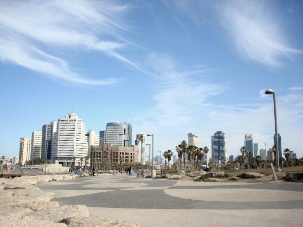 Standpromenade in Tel Aviv in Israel