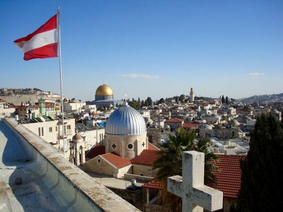 Ausblick vom Dach des Österreichischen Hospiz in Jerusalem
