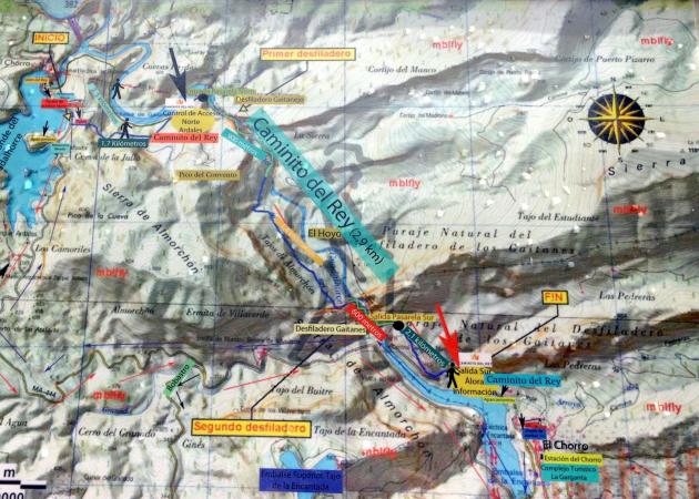 Karte Caminito del Rey
