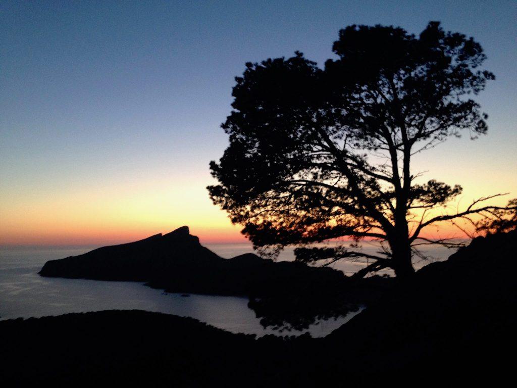 Sonnenuntergang bei Sant Elm auf Mallorca