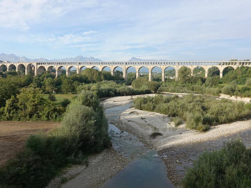 Piemont: Viadukt Soleri in Cuneo