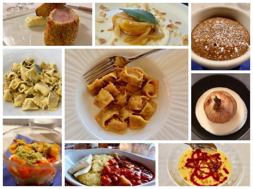 Piemont: Collage von regionale Köstlichkeiten des Piemont