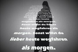 Mein Schattenbild mit Text