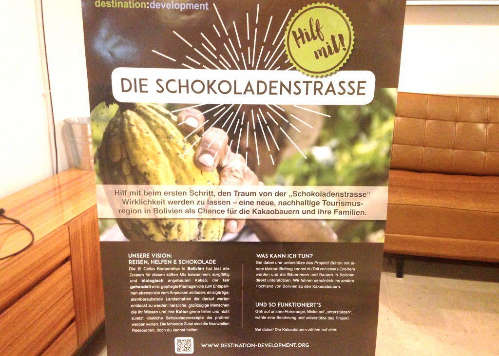 """Informationsplakat über das Projekt """"Die Schokoladenstraße"""""""