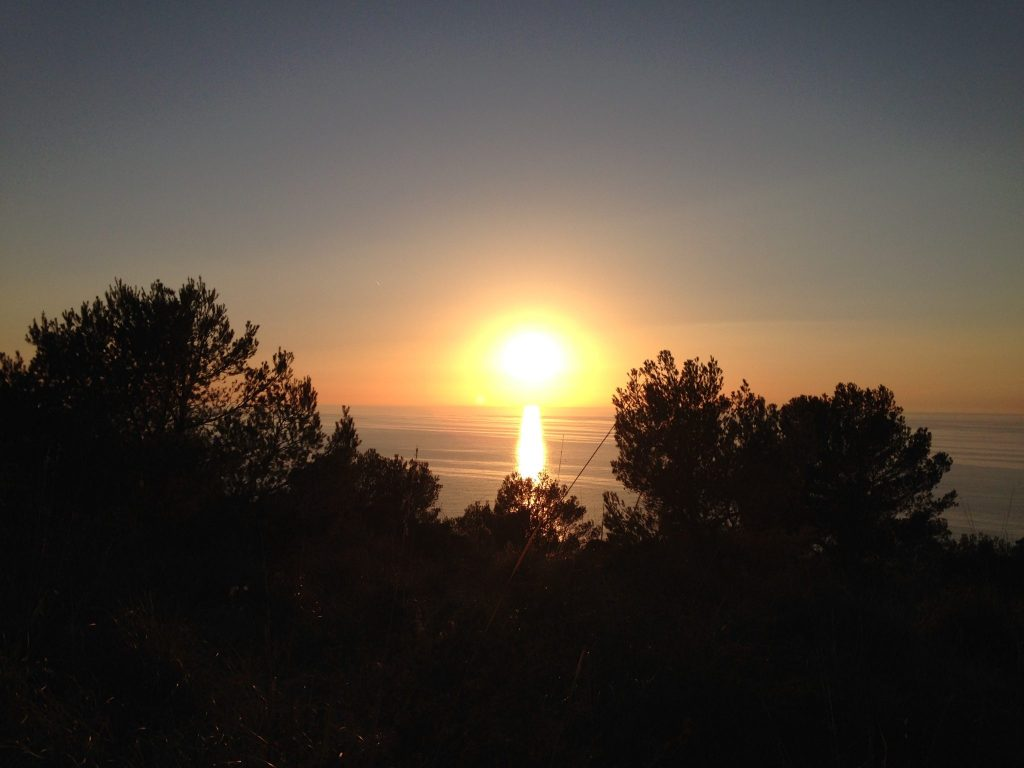 Sonnenuntergang in der Nähe vom Refugi de Muleta auf Mallorca